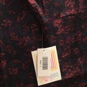 LuLaRoe Maxi Skirt Size L Plum Floral
